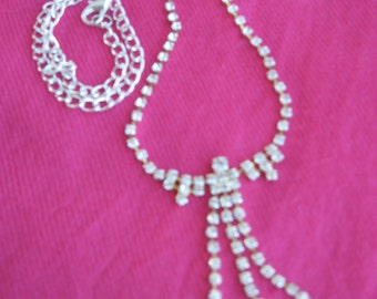 Crystal Clear Rhinestone Necklace
