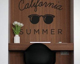 California Summer Vinyl Decal - Sunglasses