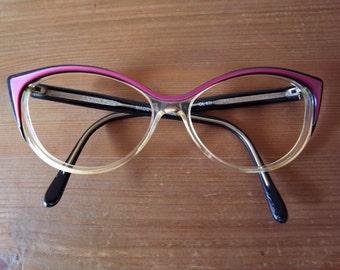 Original 50's-60's Vintage Lanvin Cat Eye Glasses Made in France