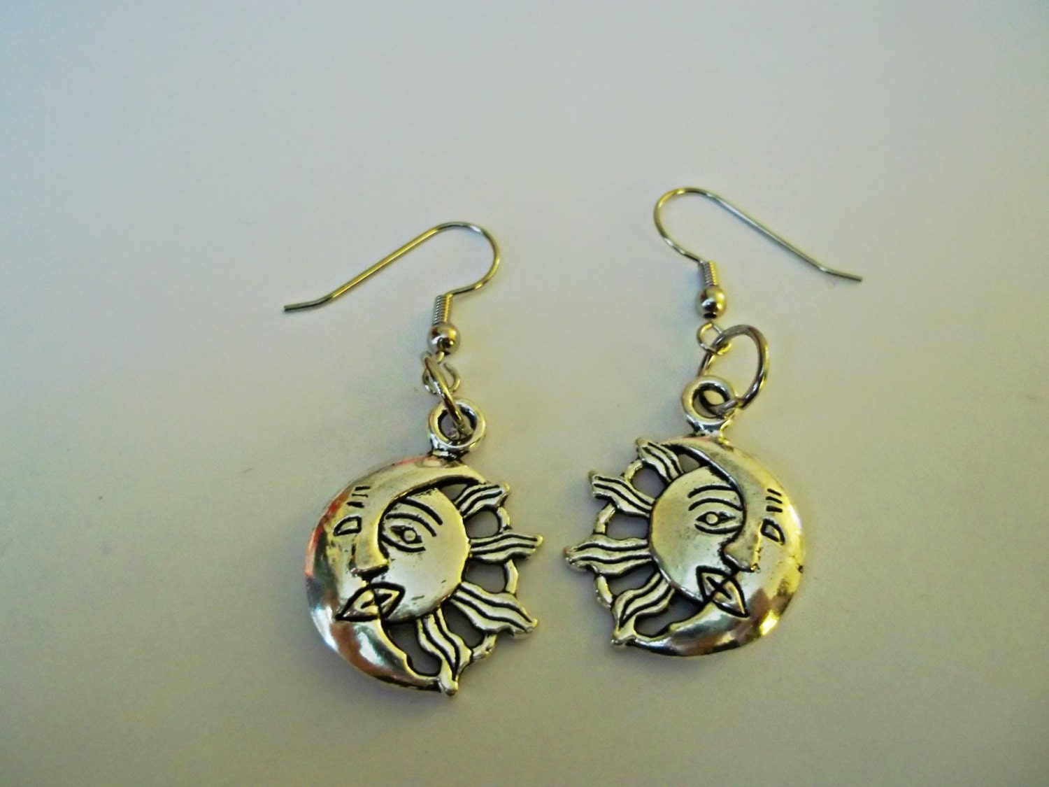 moon and sun earrings yin and yang earrings by