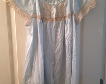 Vintage pale blue and lace sleep top
