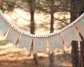 Oh, Baby Burlap Banner, burlap baby banner, baby shower, photo prop