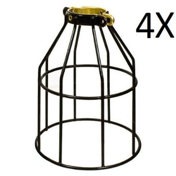 4X Metal Lamp Cage Edison Bulb Industrial Lighting Metal