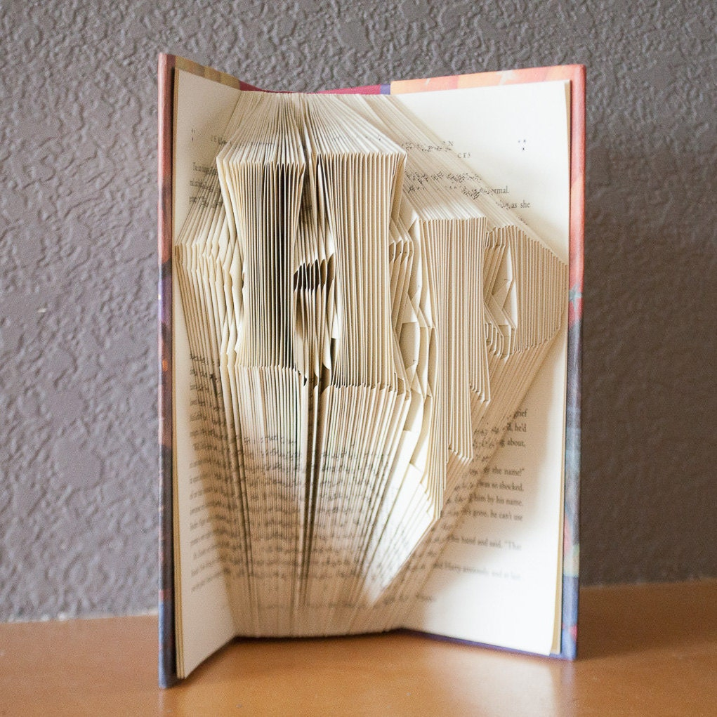 etsy shop happy little gifts harry potter folded book art book lover home decor unique gift