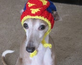 Dog Hat - Superman Dog Hat - Super Hero's Dog Hat for Cat or Dog Custom Made - DoggyDivaBoutique