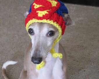 Dog Hat - Superman Dog Hat - Super Hero's Dog Hat for Cat or Dog Custom Made
