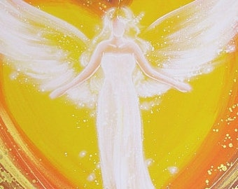 """Limited angel art photo """"fondly hug"""" , modern angel painting, artwork,ideal also for picture frame, gift,spiritual,magic,mystic"""