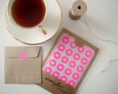 24 Hearts Stickers Neon Fluorescent Light Pink - Handmade Envelope Seals - Wedding invitations & favours - Baby Shower - Hershey Kiss