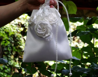Bridal Accessories Bridal Money Bag Flower Girl Pouch Bridal Purse Wedding Accessories Bridesmaid Bag