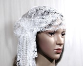1920s Hair Accessory, Bridal Lace Cap, Wedding Headpiece, Bridal Headpiece, Wedding Cap,