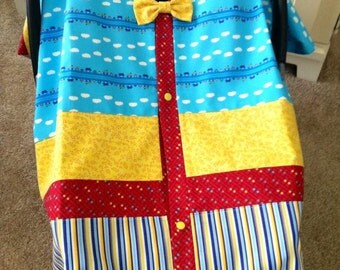 Car Seat Canopy / Cover / Tent / Nursing Cover / Blanket - Clouds & Stripes