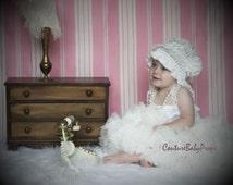 Baby Girl's full ruffle PREMIUM Cream ivory pettiskirt tutu skirt dress petticoat twins photo prop Newborn size 6-12 6-9 12-24 months