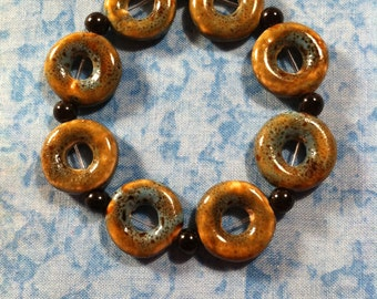 Porcelain Donut Bead Bracelet