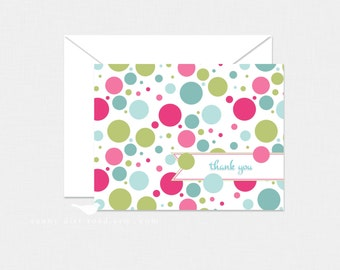 Polka Dot Thank You Cards - Set of 8