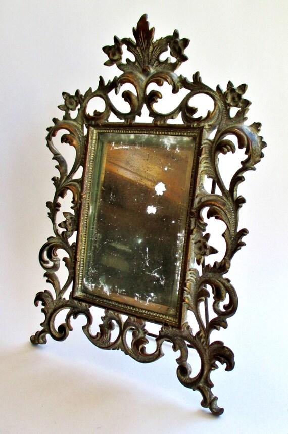 1800 S Victorian Era Bronze Mirror French By