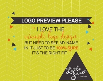 Logo Preview (with your name in it) / Branding for Photographers (LGPV)