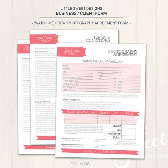 photography business    client form  u0026 39 watch me by