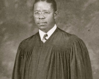 Stoic 1910's Black African American Preacher In Robe Real Photo Postcard - Free Shipping