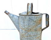 Vintage Galvanized Watering Can - Planter