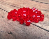 Light Siam Swarovski Crystal Bicone Beads, Light Siam Bicone, Swarovski Crystal Bicone Beads, Bicone Beads, Swarovski Beads, Destash, 5mm