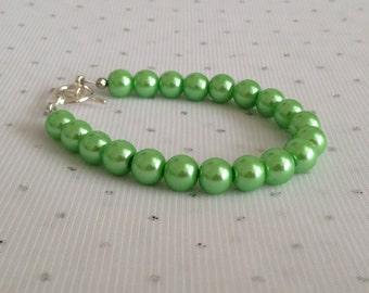 Lime Green Bracelet, Lime Green Jewelry, Green Wedding, Bridesmaid Gift, Green Bracelet, Bridesmaid Jewelry, Wedding Jewelry, Green Jewelry