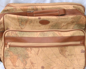 Vintage Maps Traveling Luggage - The Columbus Collection by Bagoda