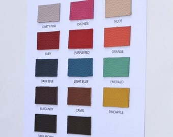 CORYSBAGS leather swatches, leather color card, ADRIA leather - Mastrotto Italy