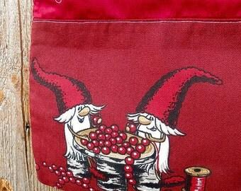 Scandinavian Christmas Gift Bag Santa Sack Christmas Sachets Christmas Ornament Drawstring Reusable Gift  Bag Gnomes Elf Tomte Gift Wrap