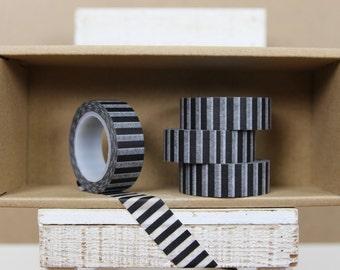 Washi Tape - black vertical stripes  - 9002