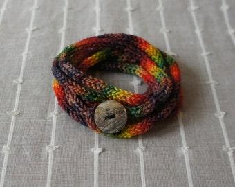 Knit I-Cord Bracelet