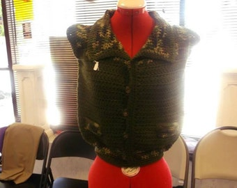 Crochet vest made for a boy