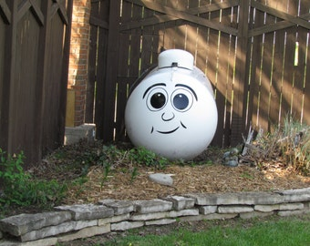 Dress up Your Boring Propane Tank With Our Funny Face Quality Vinyl Decal Sticker - Select Color