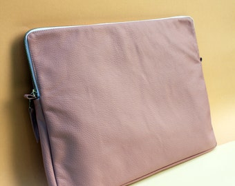 """Leather Notebook Case rose 13""""-15"""""""