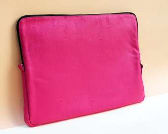Leather Notebook Case PINK 13""