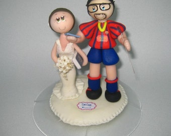 Soccer wedding cake topper / wedding cake topper / futbol wedding cake topper / engineer cake topper