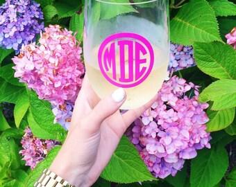 Personalized Acrylic Stemless Wine Glass, 19oz