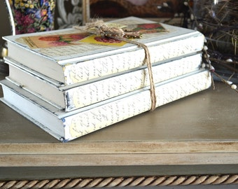 Decorative Book Bundle Vintage Shabby Cottage Decor