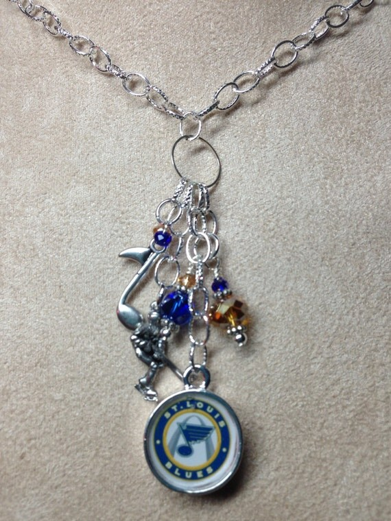 items similar to st louis blues hockey charm necklace on etsy
