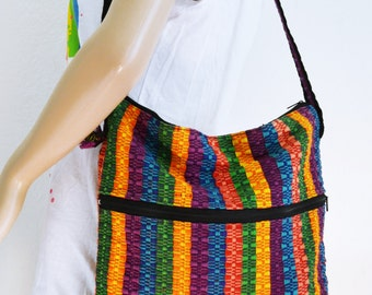 Guatemalan purse,bag, Cotton ,Shoulder Bag ,Cross body,  ethnic, fringed,purses,bags
