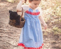 Dorothy Wizard of Oz Inspired Play Dress sizes 0-3 months thru 2T