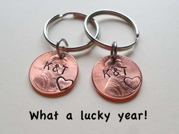 10th Wedding Anniversary Gift Ideas For Couple : , Anniversary Gift, Husband Wife Key Chain, Boyfriend Girlfriend Gift ...
