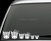 Decepticons family vinyl decal window sticker
