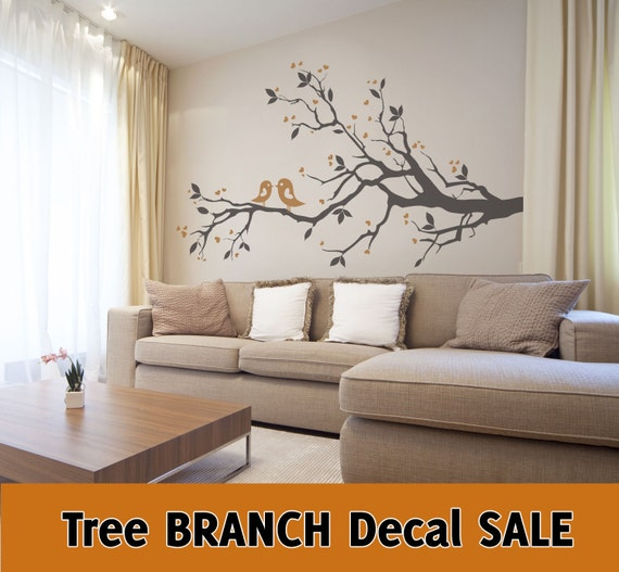 Items Similar To Sale Tree Branch Leaves Birds Hearts 2