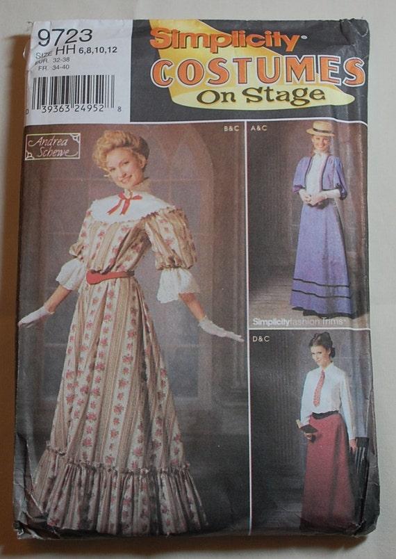 Simplicity 9723 Women S 19th Century Dress Costume Pattern