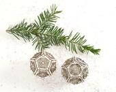 DIY Kit  makes Two Snowflake Ornaments