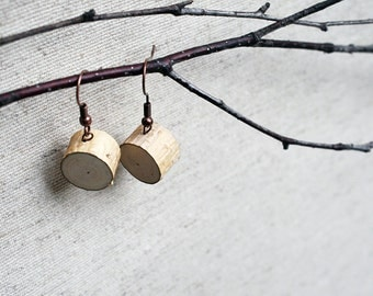 Natural Birch Wood Earrings. Handmade in Latvia. Different color findings. Eco friendly. Perfect Gift for Nature lovers.