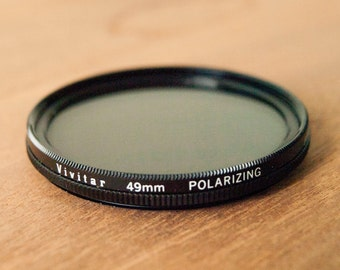 WORKING Vivitar 49mm Polarizing Filter, Camera Filter, Polarizing Filter, Vintage Camera Filter, 49mm Camera Filter, Vintage Camera Filters