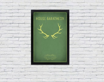 Game of Thrones Poster / House Baratheon Print 12x18