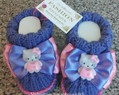 Hello kitty baby booties. Baby Booties.Crochet Baby booties newborn .Baby shoes.Photo Prop