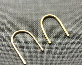 Gold - simple arc earrings - modern and minimalist